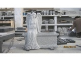 Light Grey Angel Carving Monuments