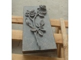 Barap Sandblased Flower Headstone