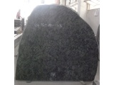 Olive Green Granite Pitched Headstone