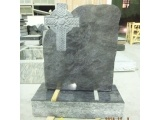 Dark Vizag Blue Granite Headstone
