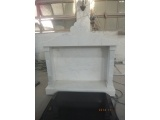 China White Marble Chaple Headstone