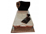 Granite Headstone With Cross in