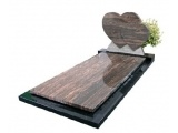 Double Heart Gravestone Monuments With