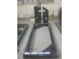 Cross Design Upright Headstone In