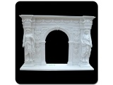 Fangshan Pure White Marble Simple