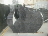 Polished And Bushammered Granite Headstone
