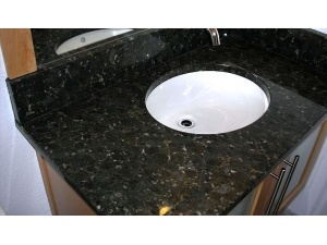 Natural Granite Butterfly Green Vanity