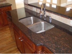 Cheap imported brown granite table