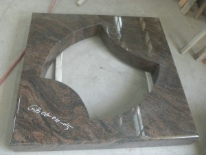 Square Plate Middle Cutthrough Himalaya